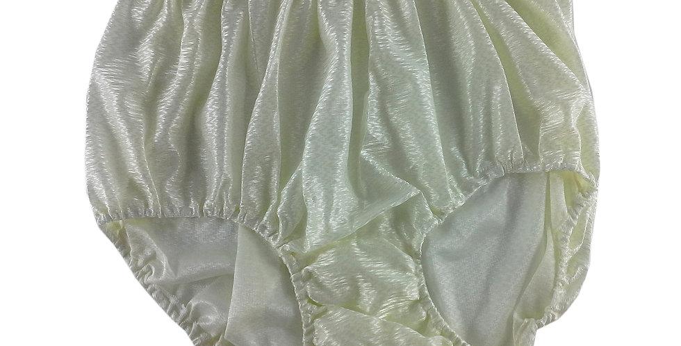 SF07 Ivory Silky Nylon Panties Women Vintage Granny HI-CUTS Briefs