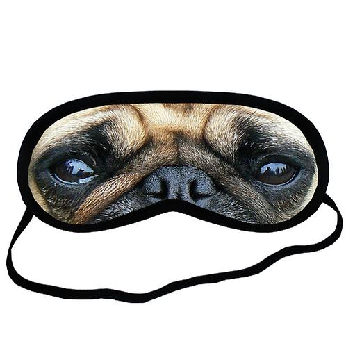EYM682 Pug dog Eye Printed Sleeping Mask