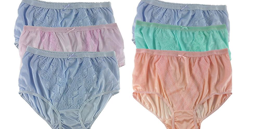 NLSG32 Lots 6 pcs Wholesale New Panties Granny Briefs Nylon Men Women