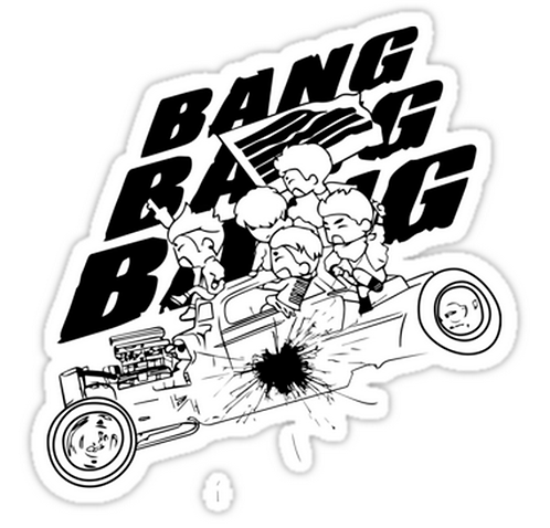 BIGBANG BANG BANG BANG SSTK019 K-Pop Music Brand Car Window Decal Sticker