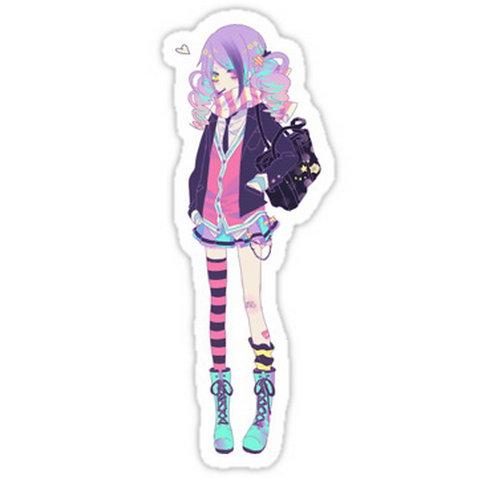 SRBB0555 Anime Girl anime sticker