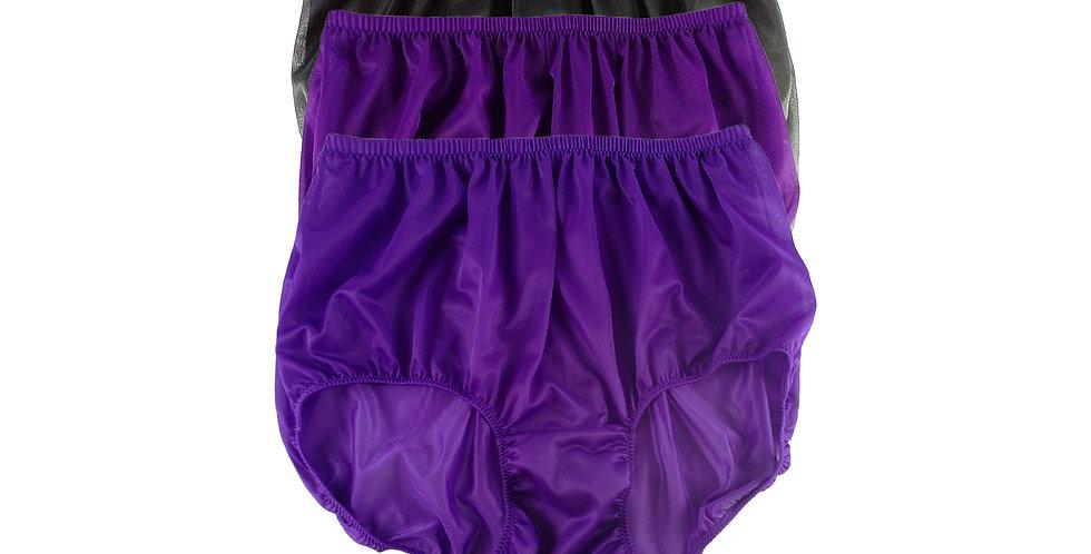 A92 Lots 3 pcs Wholesale Women New Panties Granny Briefs Nylon Knickers