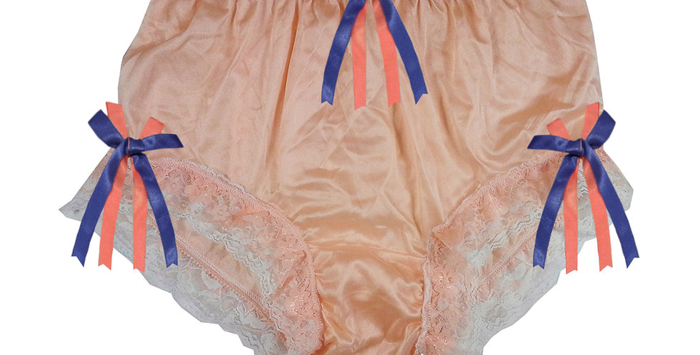 NYH22D11 Orange Handmade New Panties Briefs Lace Sheer Nylon Men Women