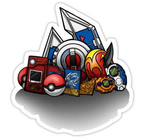 SRBB0002 Anime Monsters Car Window Decal Sticker