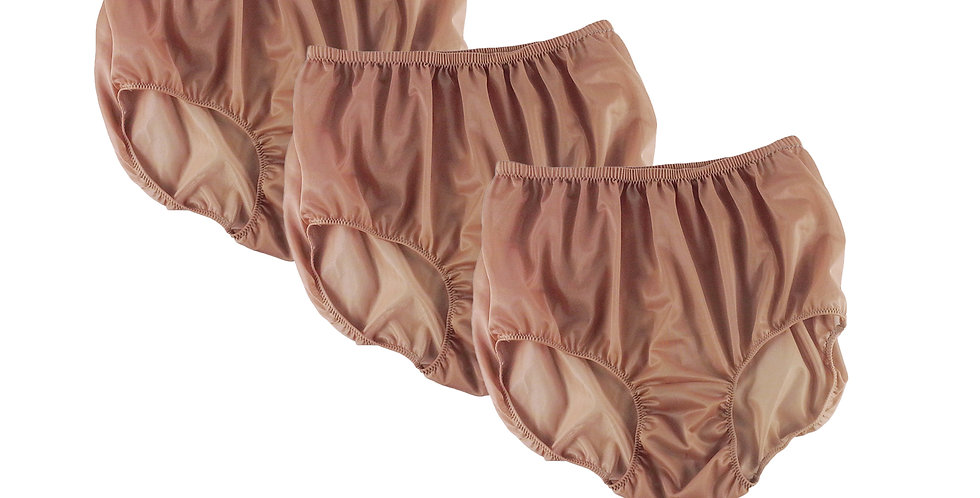 BB16 Fair Brown Lots 3 pcs Wholesale Women New Panties Granny Briefs Nylon