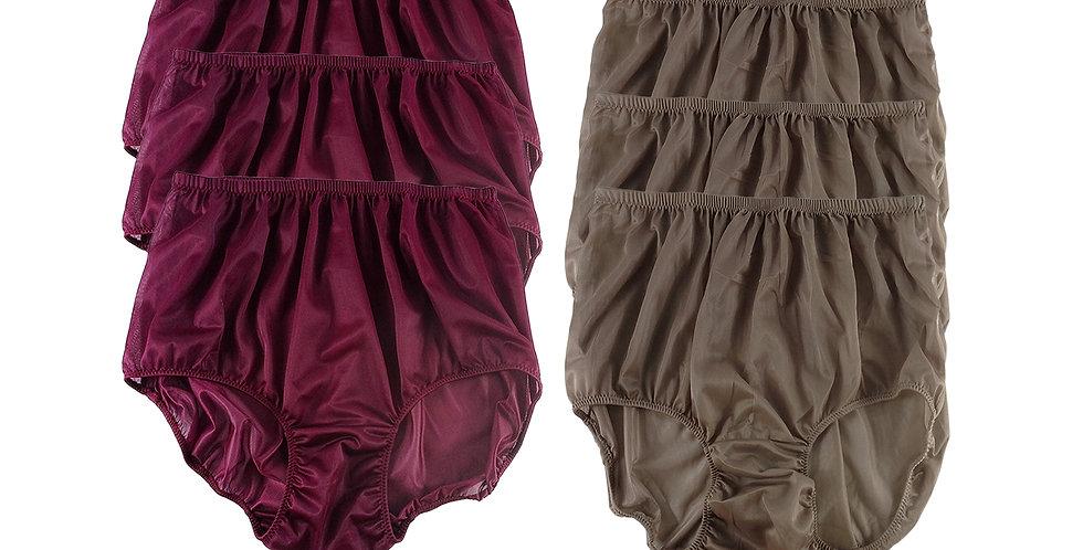 NSD61Lots 6 pcs Wholesale Women New Panties Granny Briefs Nylon Lingerie