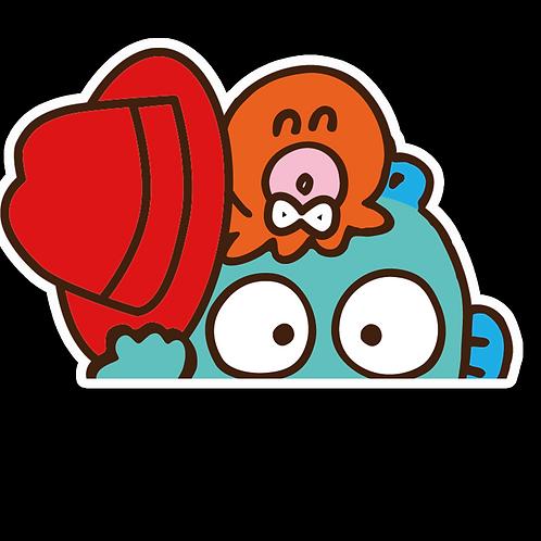 Peeker Anime Peeking Sticker Car Window Decal PK428 Hangyodon Anime