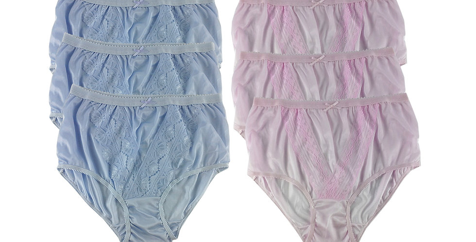 NLSG03 Lots 6 pcs Wholesale New Panties Granny Briefs Nylon Men Women