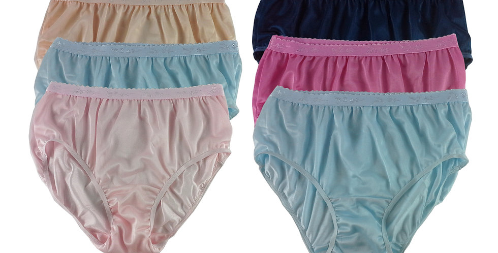CKSL47 Lots 6 pcs Wholesale New Nylon Panties Women Undies Briefs