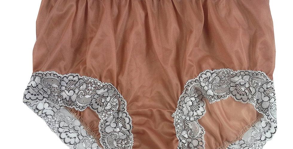 New Fair Brown Sheer Nylon Knickers Panties Briefs Men Handmade Waist Lacy NH26D