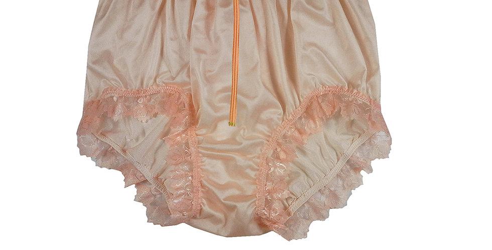 NQH19D02 Orange Zipper New Panties Granny Briefs Nylon Handmade Lace Men