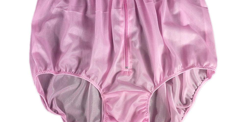 NH03D06 Pink Handmade Panties Lace Women Men Briefs Nylon Knickers