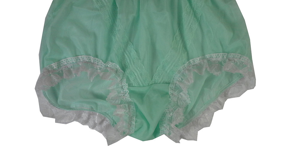SSH24D02 Green Handmade Nylon Panties Lace Women Granny Men Briefs