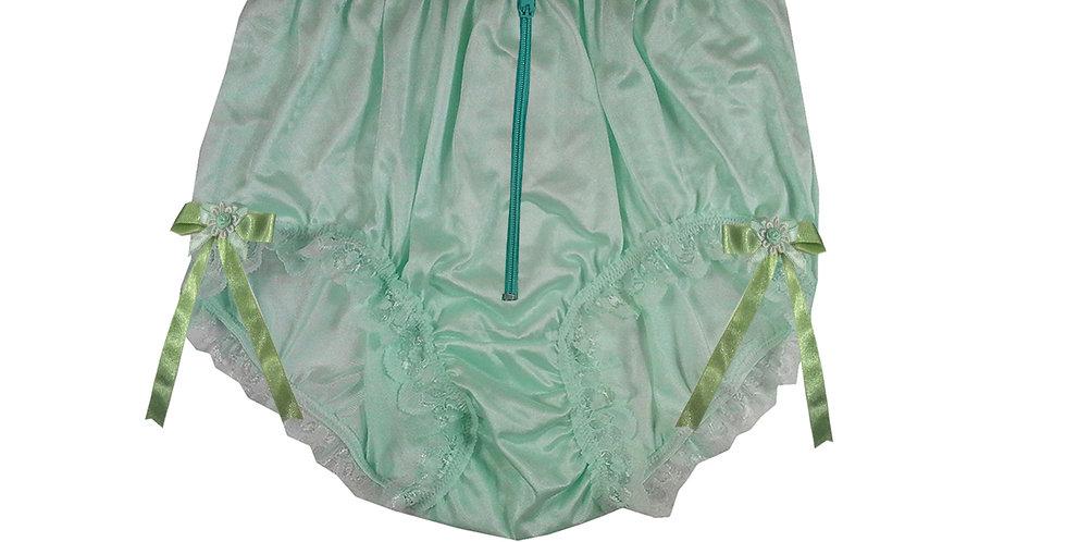 NQH20D04 Green Zipper New Panties Granny Briefs Nylon Handmade Lace Men