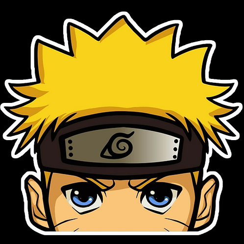 Anime Peeking Sticker Car Window TRUCK Decal PKN55 Naruto