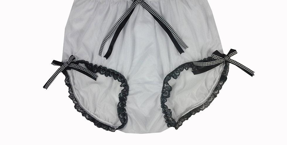 NNH11D138 Handmade Panties Lace Women Men Briefs Nylon Knickers