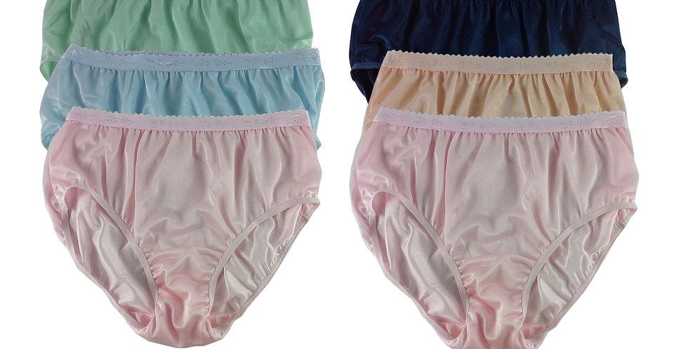 CKSL32 Lots 6 pcs Wholesale New Nylon Panties Women Undies Briefs