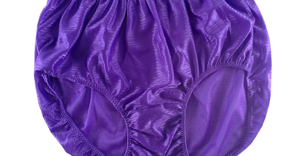 SF02 Purple Silky Nylon Panties Women Vintage Granny HI-CUTS Briefs