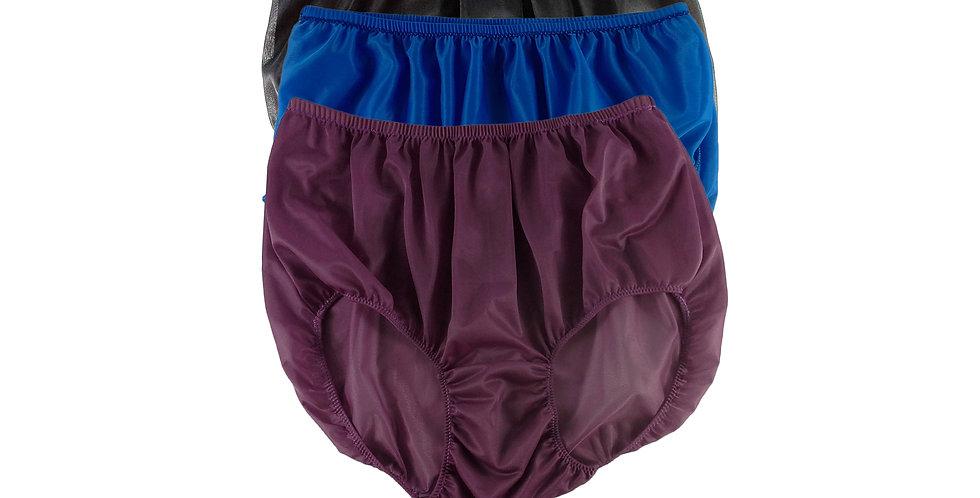 A113 Lots 3 pcs Wholesale Women New Panties Granny Briefs Nylon Knickers