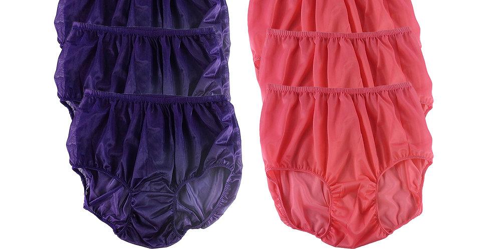 NSD40Lots 6 pcs Wholesale Women New Panties Granny Briefs Nylon Lingerie