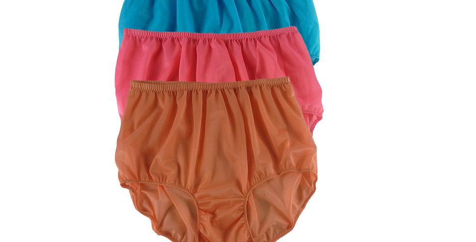 A142 Lots 3 pcs Wholesale Women New Panties Granny Briefs Nylon Knickers