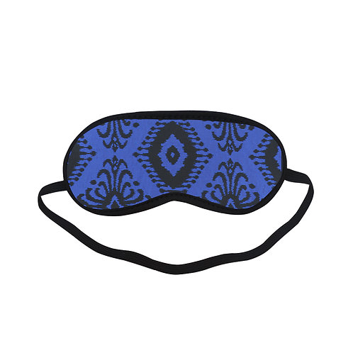 PTEM465 Blue Vintage Foliate Seamless Pattern Eye Printed Sleeping Mas