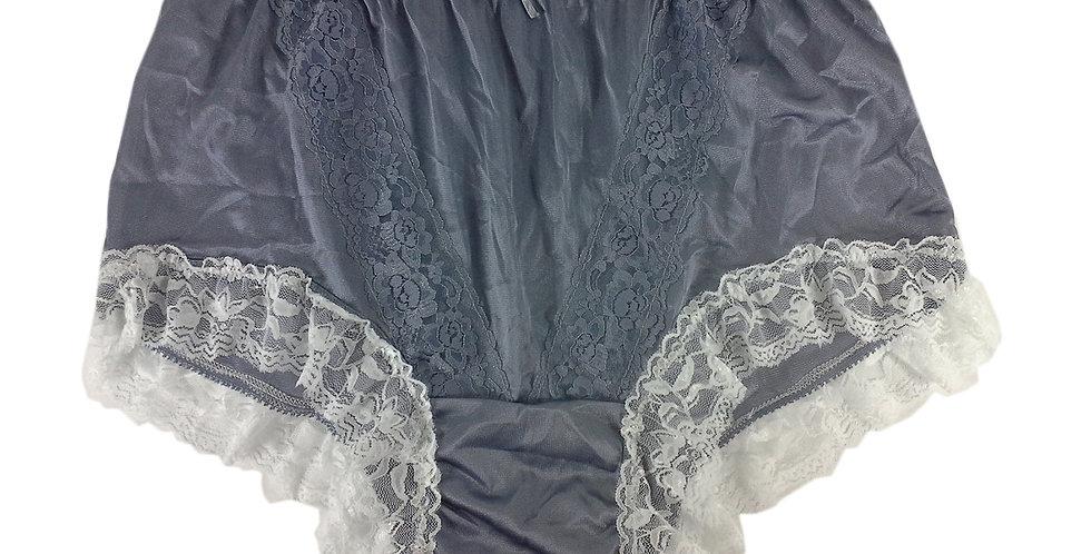 KJH01D03 Grey  Panties Lace Briefs Nylon Handmade  Men Woman