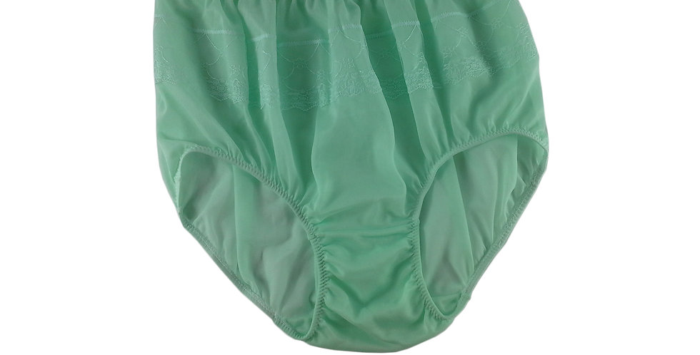 JY01 Sissy New Fair Green Silky Nylon Panties Women Men Floral Knickers Briefs