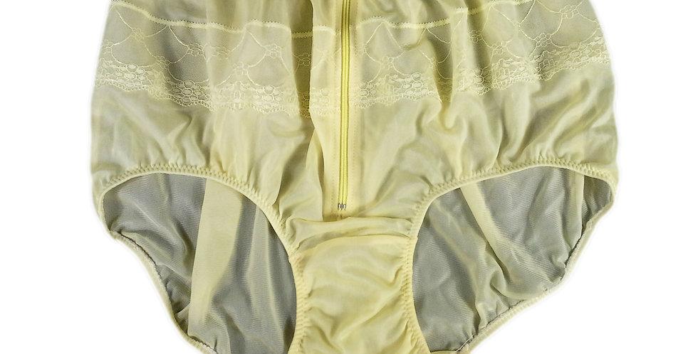JYH03D03 yellow Handmade Nylon Panties Women Men Lace Knickers Briefs