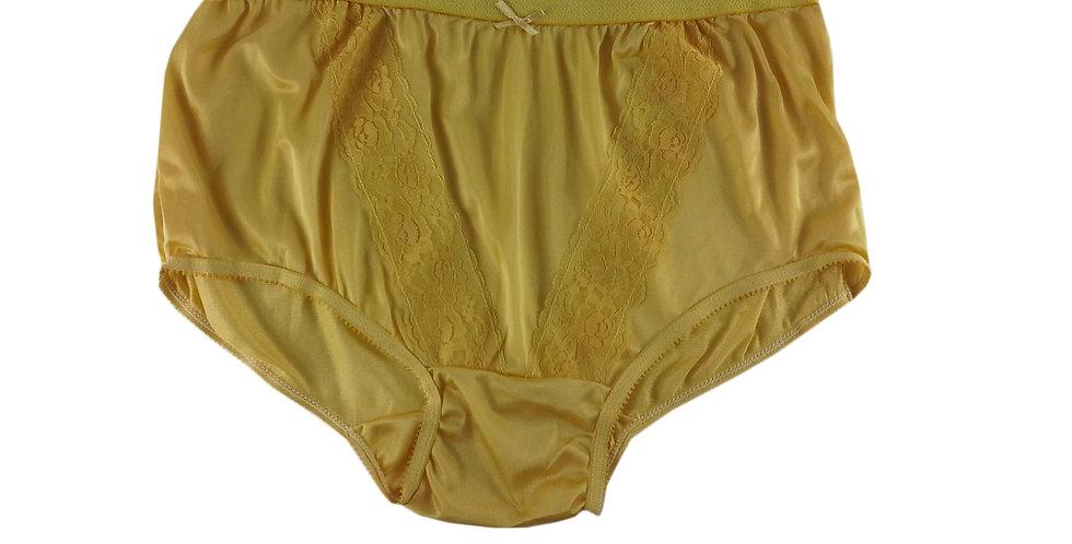 KJ06 Yellow New Panties Granny Lace Briefs Nylon Underwear Men Women