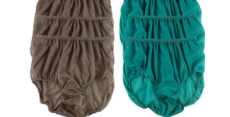 NSD99Lots 6 pcs Wholesale Women New Panties Granny Briefs Nylon Lingerie
