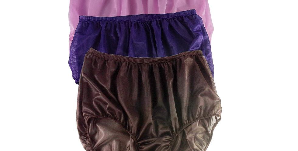 A31 Lots 3 pcs Wholesale Women New Panties Granny Briefs Nylon Knickers