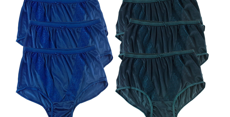 KJSJ08 Lots 6 pcs Wholesale New Panties Granny Briefs Nylon Men Women