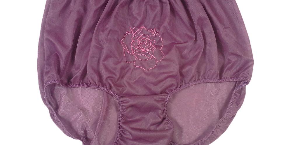 NNH13D04 deep Pink Handmade Panties Lace Women Men Briefs Nylon Knickers