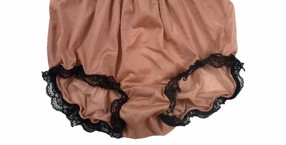 NNH08D11 Fair Brown Handmade Panties Lace Women Men Briefs Nylon Knickers
