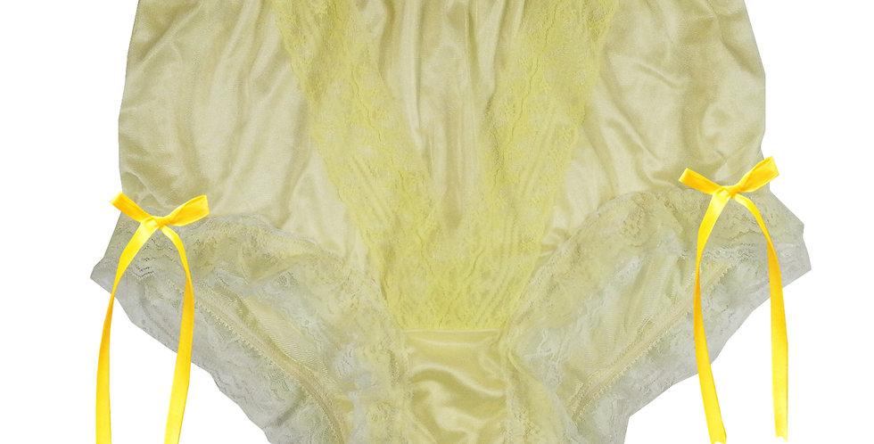 NLH21D04 Yellow New Panties Granny Lace Briefs Nylon Handmade  Men