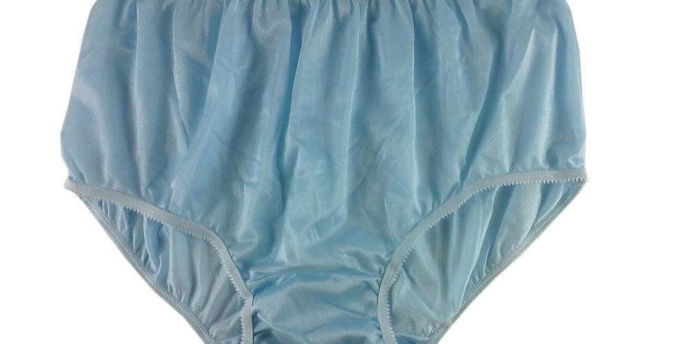 NY01 Blue New Panties Granny Briefs Silky Nylon Underwear Men Women