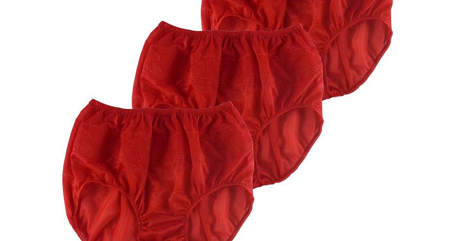 JYL RED Lots 3 pcs Wholesale Nylon Panties Women Men Floral Briefs