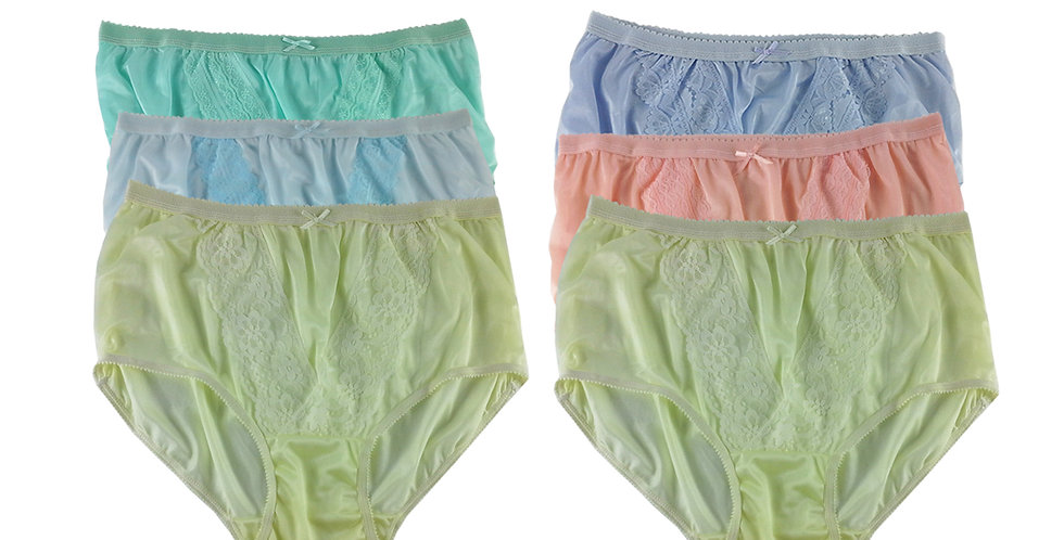 NLSG117 Lots 6 pcs Wholesale New Panties Granny Briefs Nylon Men Women