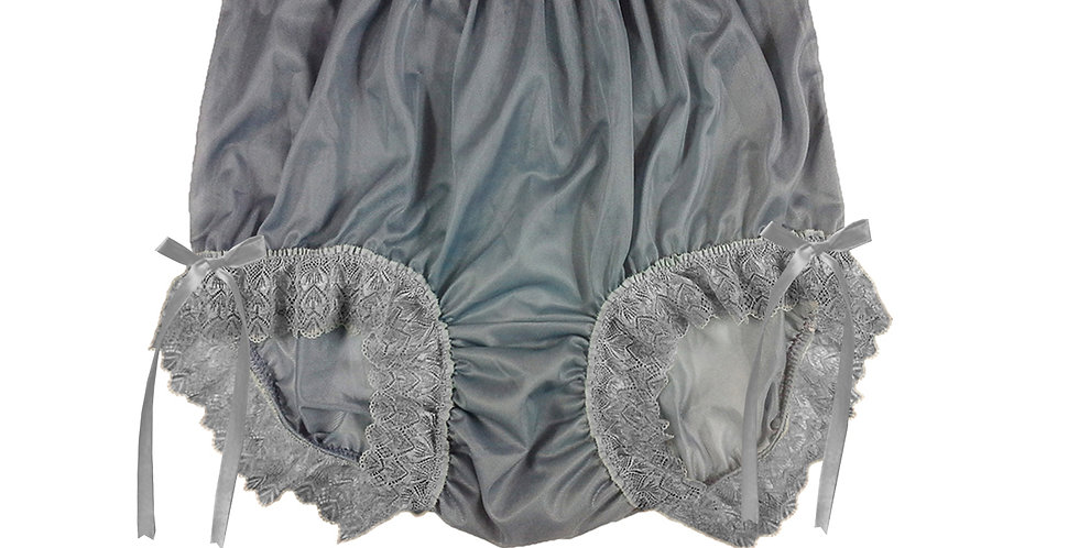 NNH17D01 Grey Gray Handmade Panties Lace Women Men Briefs Nylon Knickers