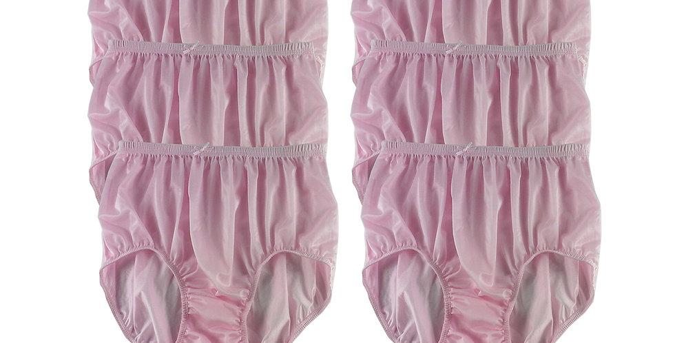 NQS05 pink Lot 6 pcs Wholesale New Panties Granny Briefs Nylon Men Women