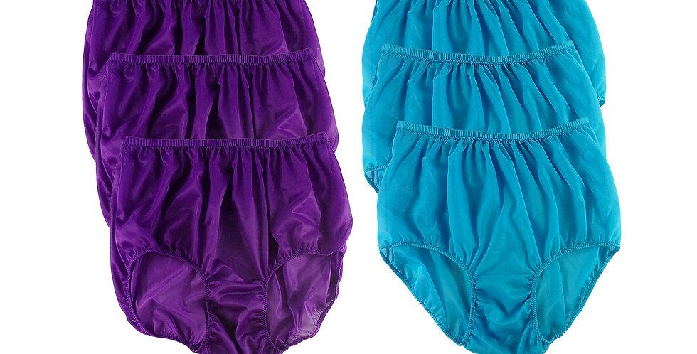 NSD79Lots 6 pcs Wholesale Women New Panties Granny Briefs Nylon Lingerie