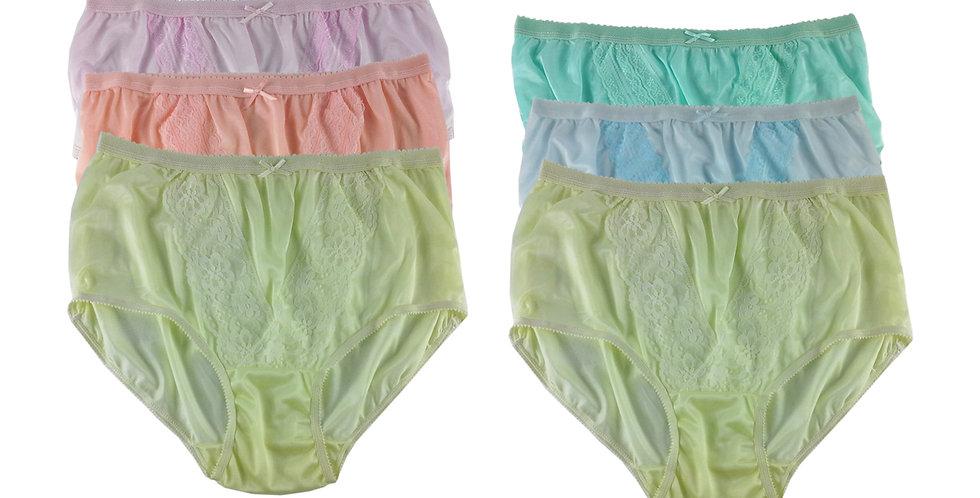 NLSG86 Lots 6 pcs Wholesale New Panties Granny Briefs Nylon Men Women
