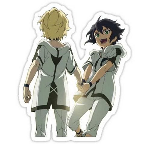 SRBB0736 Owari No Seraph - Mika&Yuu anime sticker