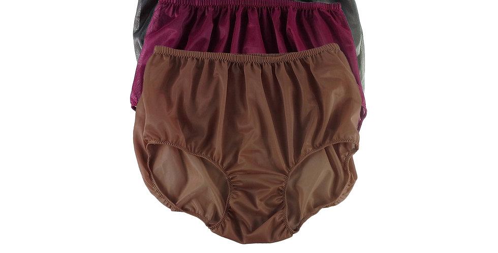A126 Lots 3 pcs Wholesale Women New Panties Granny Briefs Nylon Knickers