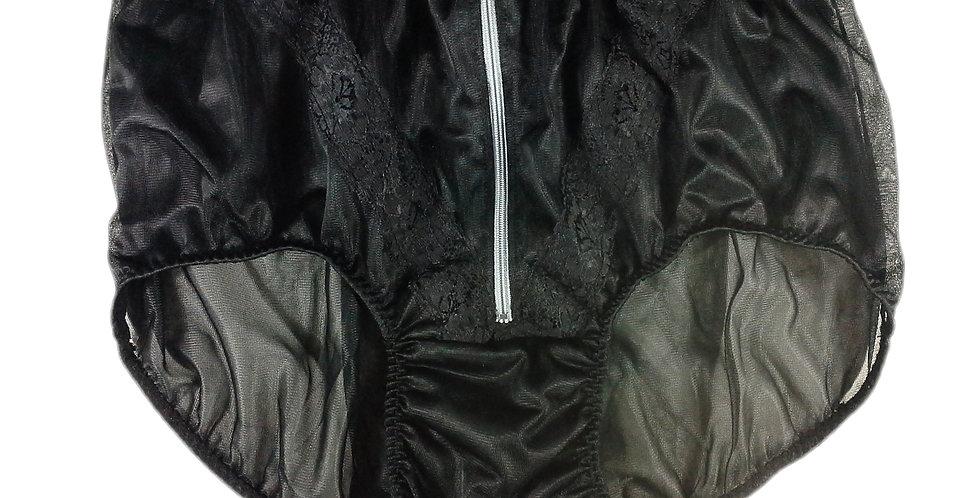 SSH03D07 Black Handmade Nylon Panties Lace Women Granny Men Briefs