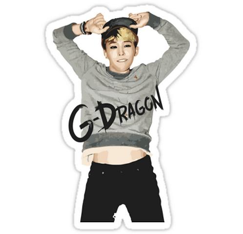 Big Bang - G-Dragon SSTK030 K-Pop Music Brand Car Window Decal Sticker