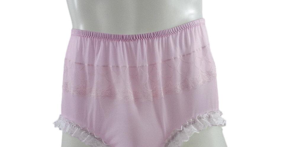 JYH02D02 Pink Handmade Nylon Panties Women Men Lace Knickers Briefs