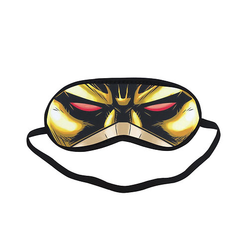 SPM172 Dare Devil Yellow Eye Printed Sleeping Mask