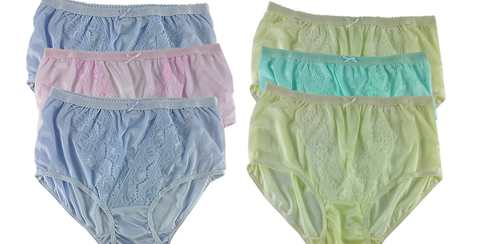NLSG16 Lots 6 pcs Wholesale New Panties Granny Briefs Nylon Men Women